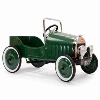 Baghera - Voiture à pédales en métal - verte - 82 x 43 cm - 3 à 5 ans - pédales réglables - Baghera-1939