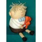 peluche personnage tricot enfant et violon