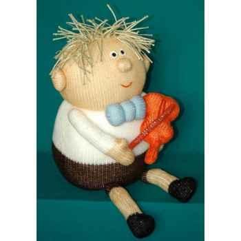 Peluche personnage tricot - Enfant et violon