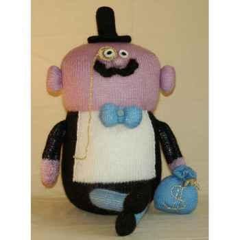 Peluche personnage tricot - Le notaire