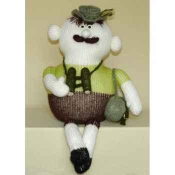 Peluche personnage tricot - Monsieur en randonnée