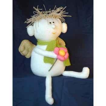 Peluche personnage tricot ange fleur