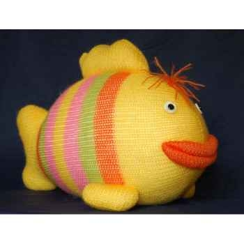 Peluche personnage tricot poisson