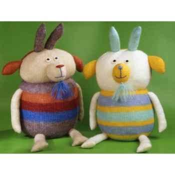 Peluches Animaux tricot - la chevre