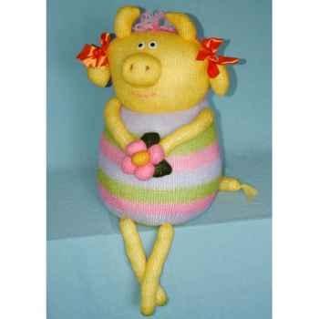 Peluches Animaux tricot - La vache coquette