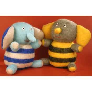 Peluches Animaux tricot - l'Abeille