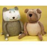 peluches animaux tricot le chat