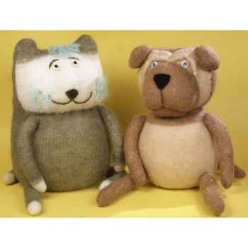 Peluches Animaux tricot - le chat