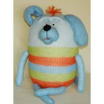 Peluches Animaux tricot - Le chien assis