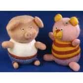 peluches animaux tricot le cochon