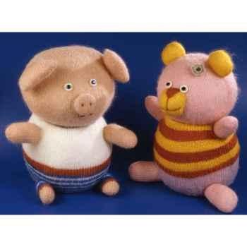Peluches Animaux tricot - le cochon