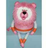 peluches animaux tricot le lion assis