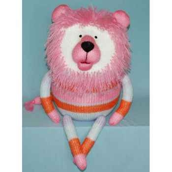 Peluches Animaux tricot - Le lion assis