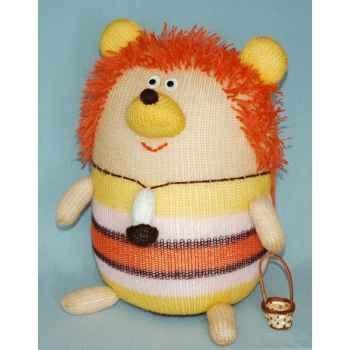 Peluches Animaux tricot - L'hérisson en promenade