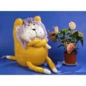 peluches tricot le lion boudeur