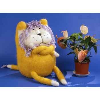 Peluches tricot - le lion boudeur