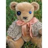 peluche ours d artiste camille piece unique signee ours fabrication ancienne
