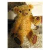 peluche ours d artiste ours isidor piece unique signee ours fabrication ancienne
