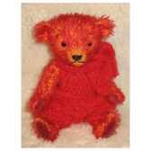peluche ours d artiste rudy piece unique signee ours fabrication ancienne