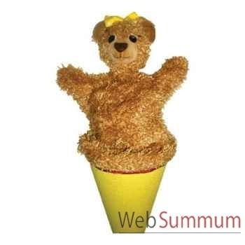Marionnette marotte Anima Scéna - L\'ourse - environ 53 cm - 11411a