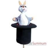 marionnette marotte anima scena le lapin dans son chapeau environ 53 cm 11443