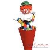 marionnette marotte anima scena le clown environ 53 cm 11207