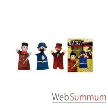 Ensemble marionnette Anima Scéna - trio Guignol avec l\'histoire - 22713l