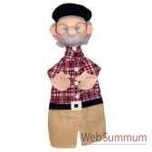 marionnette a main anima scena gepetto environ 30 cm 22516a