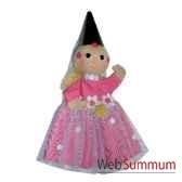 marionnette a main anima scena la fee rose environ 30 cm 22078a