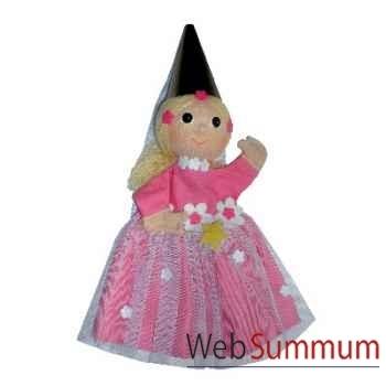 Marionnette à main Anima Scéna - La Fée Rose - environ 30 cm - 22078a