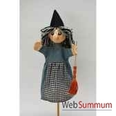 marionnette a main anima scena la sorciere environ 30 cm 22619a