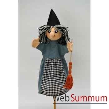 Marionnette à main Anima Scéna - La sorciere - environ 30 cm - 22619a