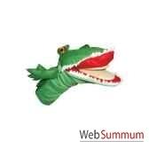 marionnette a main anima scena le crocodile clap environ 30 cm 23423a