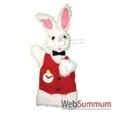 marionnette a main anima scena le lapin blanc environ 30 cm 22439a