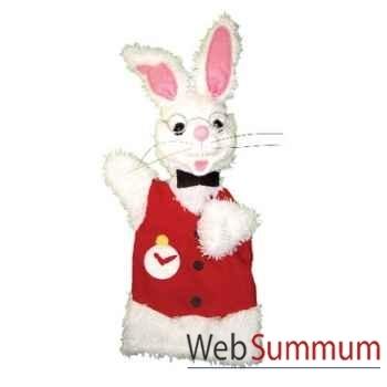 Marionnette à main Anima Scéna - Le lapin blanc - environ 30 cm - 22439a