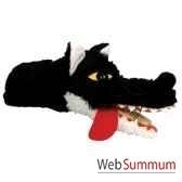 marionnette a main anima scena le loup clap environ 30 cm 23429a