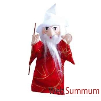 Marionnette à main Anima Scéna - Merlin L\'enchanteur - environ 30 cm - 22186a
