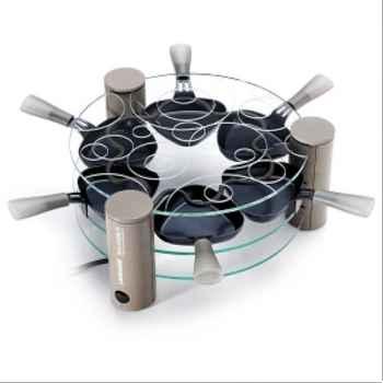 Lagrange raclette 6 coupelles transparente 642266