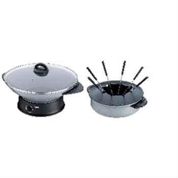 Tefal fondue + wok compact silver 228394