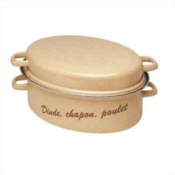 Beka daubière ovale 38 cm gigot émail brun 174423