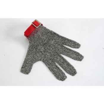 Manulatex gant cotte de maille n°8 rouge 050151