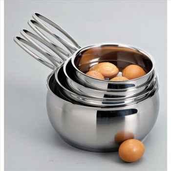 Lacor série de 4 casseroles belly bombée 14/20 cm 378080