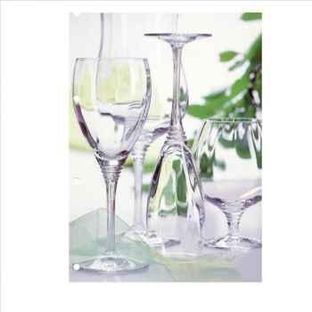 Cristal d'arques verre à pied flûte 18cl boîte de  6 - cabourg 957051