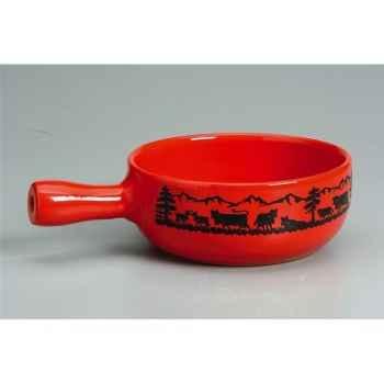 Nouvel ag caquelon fondue rouge poya 971021