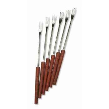 Roger orfevre lot de 12 fourchettes 3 dents - manche palissandre B00688