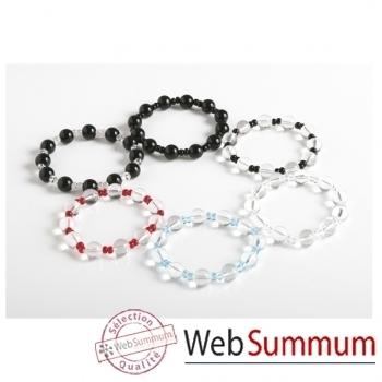 Bilbablue-Bracelet Anoa anneau plexiglas, longueur 18 cm.