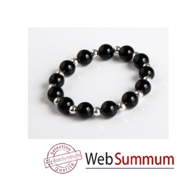 Bilbablue-Bracelet Silver sixtine, longueur  19 cm.
