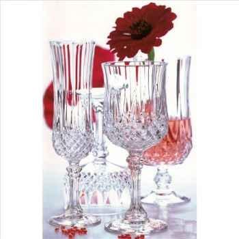 Cristal d'arques verre à pied flûte 14cl  boîte de 6 - longchamp 950948