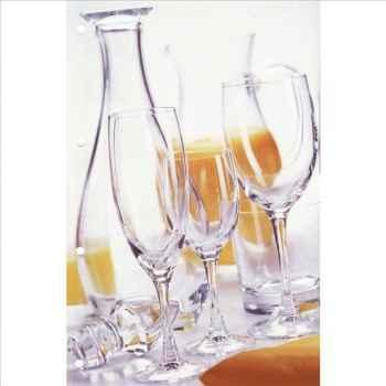 Cristal d'arques verre à pied flûte 18cl  boîte de 6 - vicomte 950954