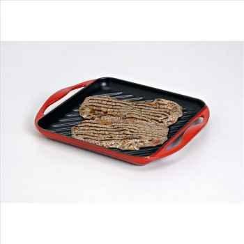 Le creuset grill carré 24 cm cerise 316605
